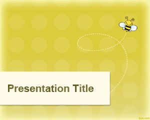 Yellow Wasp PowerPoint Template