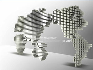 3d map dynamic PowerPoint background image
