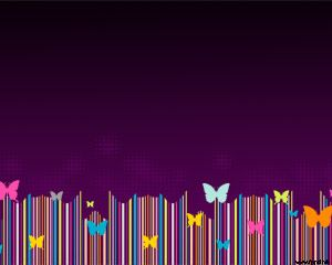 Violet Butterfly PowerPoint Template