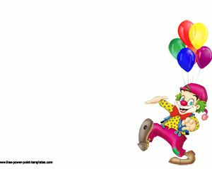 Clown Funny Powerpoint Template