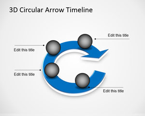 3D Circular Arrow Timeline Template for PowerPoint