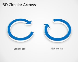 3D Circular Arrows Template for PowerPoint