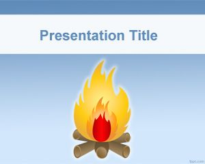 Free fire powerpoint templates bonfire powerpoint template toneelgroepblik Images