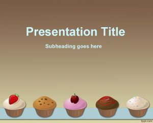 Cupcakes Recipe PowerPoint Template