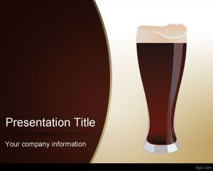 Dark Beer PowerPoint Template