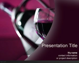 Wine bottle PowerPoint Template