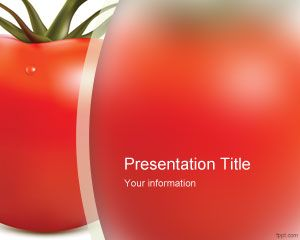 Fresh Tomato PowerPoint Template