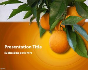Orange Tree Powerpoint-Vorlage