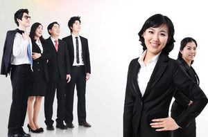 6 workplace business people PPT illustrations material