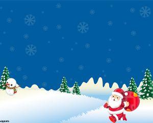 Snowy Christmas Powerpoint