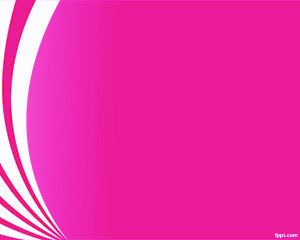Big Pink Curves PowerPoint Template