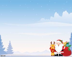 Christmas Landscape PowerPoint Template