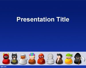 Halloween Costumes PowerPoint Template