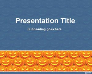 Halloween Cucurbit PowerPoint Template