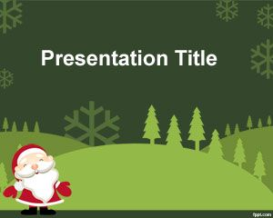 Green Christmas Powerpoint Template Powerpoint Templates Free Download