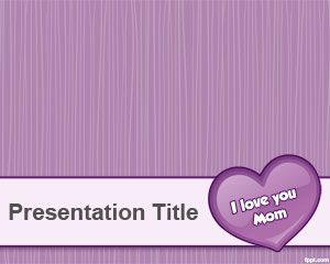 Violet Mother's Day PowerPoint Template