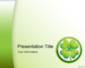St. Patrick Clovers PowerPoint Template