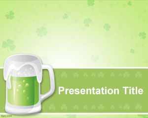St. Patrick Beer PowerPoint Template