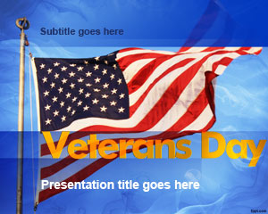 Template Veterans Day PowerPoint
