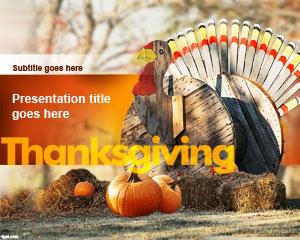 Thanksgiving Turkey PowerPoint Template