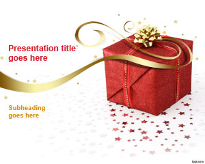 Christmas Gift PowerPoint Template
