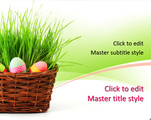 Happy 2015 Easter PowerPoint Template with Red Egg Picture