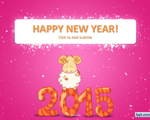free happy goat new year 2015 powerpoint template powerpoint