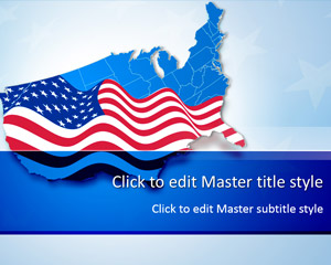 Free USA Map Flag PowerPoint Template