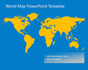 Free Colorful Worldmap Vector Template for PowerPoint