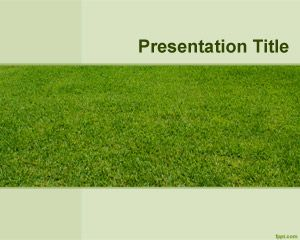 Lawn Yard PowerPoint Template