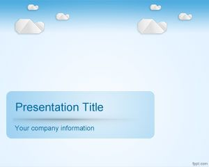 Template Sky Clouds PowerPoint