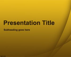 Yellow Quiz PowerPoint Template