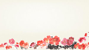 A bunch of peony background Chinese wind PPT background picture