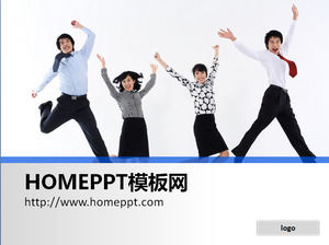 A group of cheers jumping on white background background