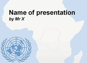 Africa and UN Blue Version Free Powerpoint Template