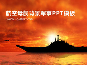 Aircraft carrier background military slide template download