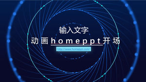Animated homeppt opening PPT template