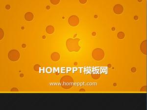 Apple logo background technology slideshow material