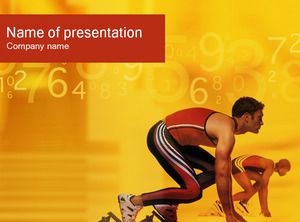 Athletics competition ppt template