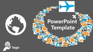 Atmospheric Business Travel Industry PPT Template