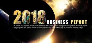 璀璨Atmospheric Starry Style Business Summary Report PPT Template