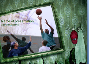 Basketball life - sports PPT template