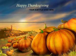 Beautiful Big Pumpkin Halloween ppt template