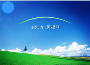 Beautiful scenery of the natural scenery PPT template download