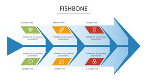 Big arrow fishbone figure PPT graphic material