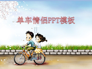 Bike couple background love PowerPoint template download details: