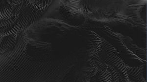 Black abstract dot matrix wave PPT background image