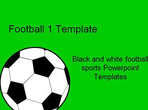 黒と白のサッカースポーツpowerpointテンプレート powerpoint