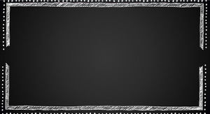 Black chalk blackboard PPT border material