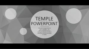 Black Edge Widescreen Atmosphere Business PPT Template